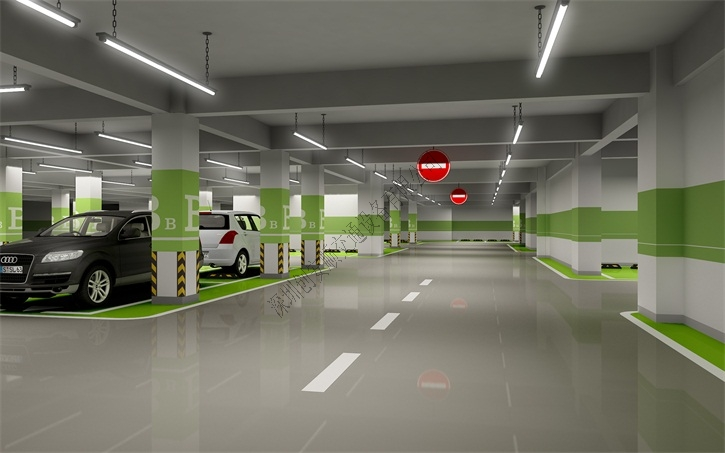 维雅得商业广场地下停车场效果图-维雅得商业广场案例图片